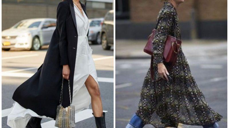 Как носить летнее платье осенью: 3 удачных варианта
