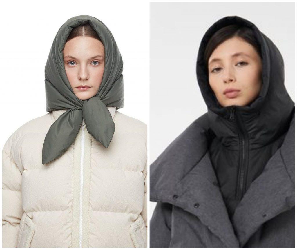 Капюшоны и платки с утеплителем - способ быть стильной в сильный мороз
