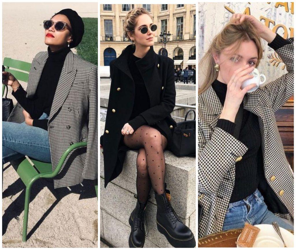 С чем носить черную водолазку: стиль casual