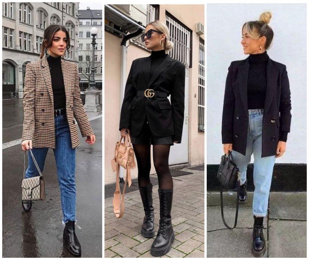 С чем носитьт черную водолазку: создаем образ street style