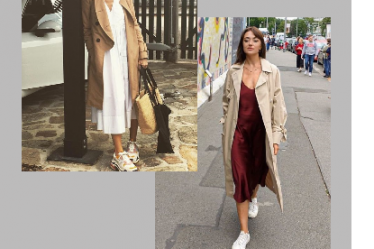 платье с кроссовками как носить