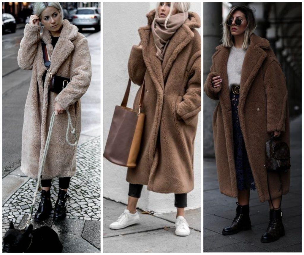 Пальто из искусственного меха 2021